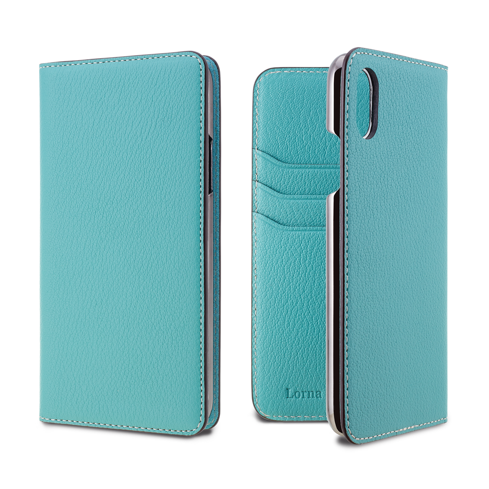 LORNA PASSONI - French Chevere Sully Leather Folio Case for iPhone XS/X / ケース - FOX STORE