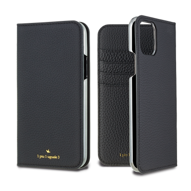 LORNA PASSONI - German Shrunken Calf Folio Case for iPhone 11/11 Pro/11 Pro Max <1piu1uguale3> / ケース - FOX STORE