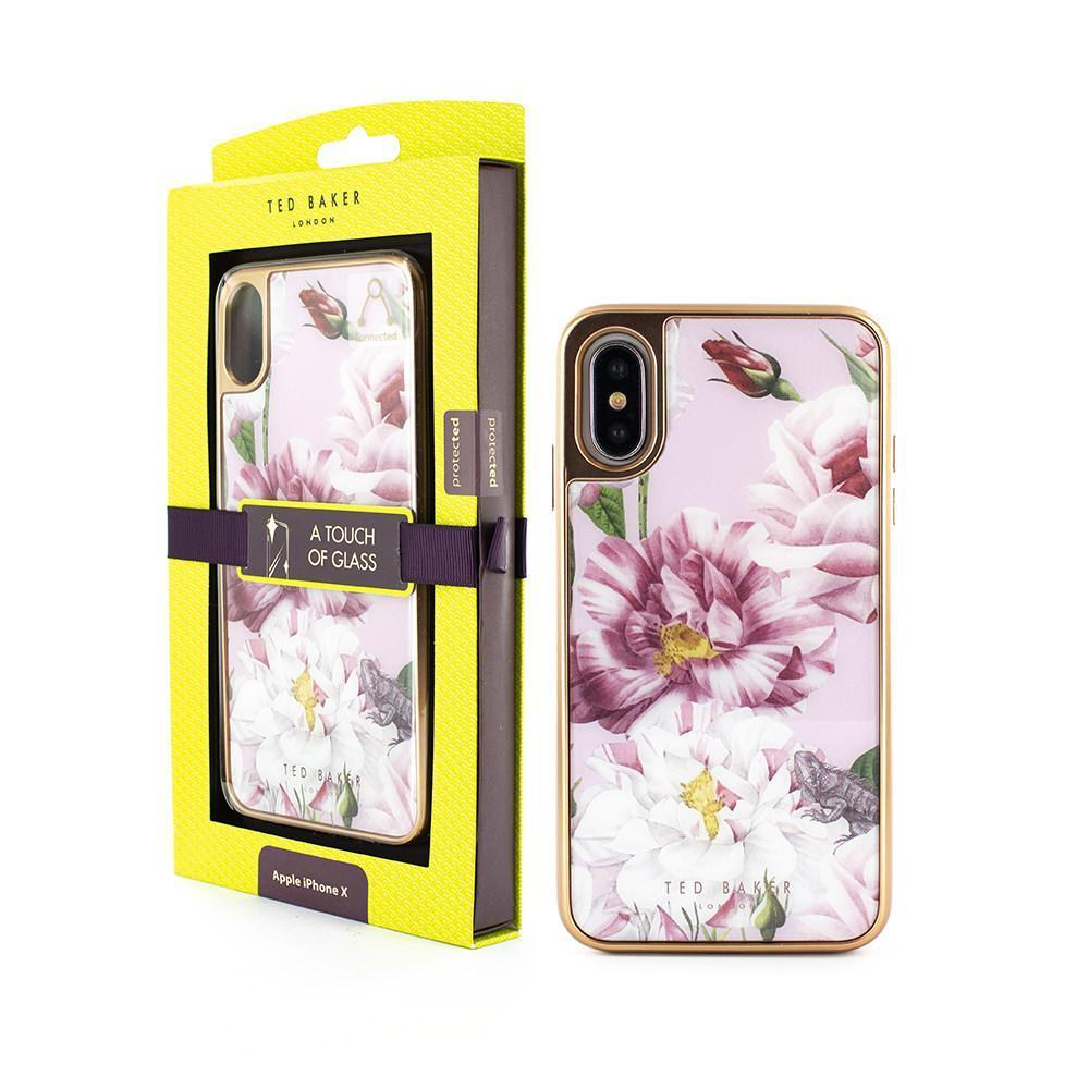 Ted Baker - GLASS INLAY for iPhone XS/X / ケース - FOX STORE