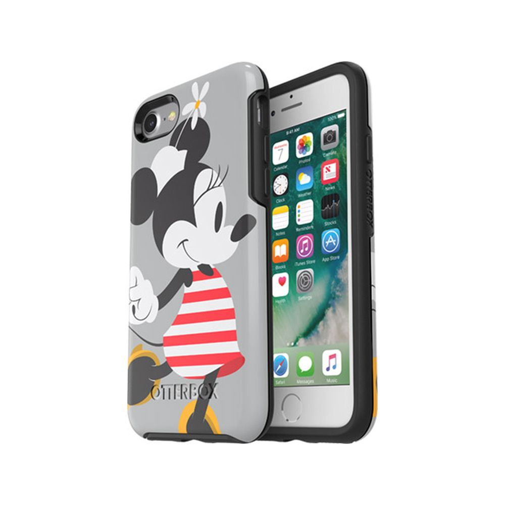 OtterBox - Symmetry Series Disney Classics for iPhone SE 第2世代/8/7 - Disney Minnie Stripes