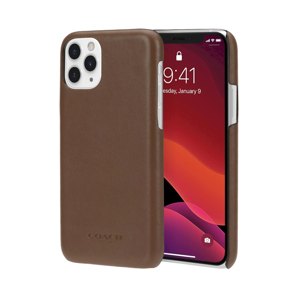 Coach - Leather Slim Wrap Case for iPhone 11 Pro / ケース - FOX STORE