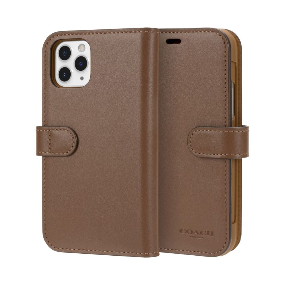 Coach - Leather Folio Case for iPhone 11 Pro / ケース - FOX STORE