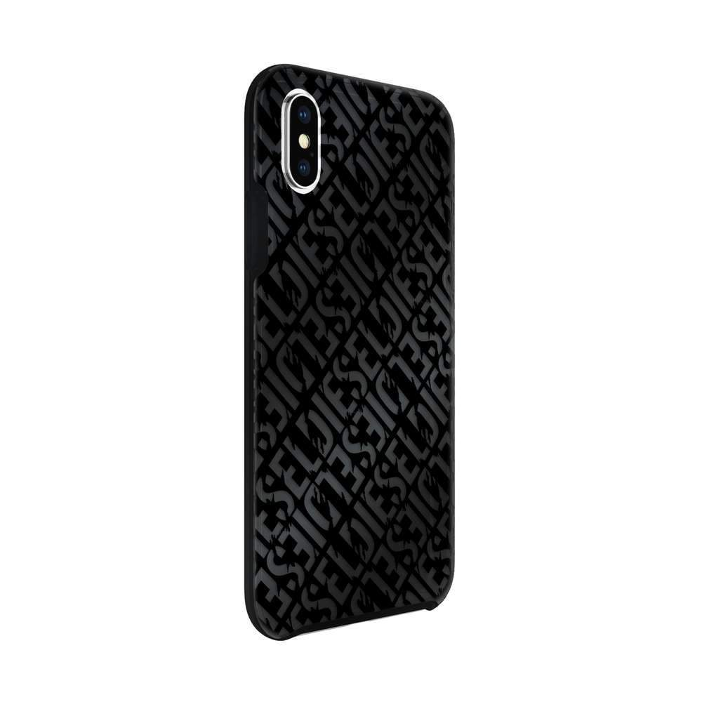 DIESEL - Printed Co-Mold Distressed Logo Pattern Case for iPhone XS/X / ケース - FOX STORE