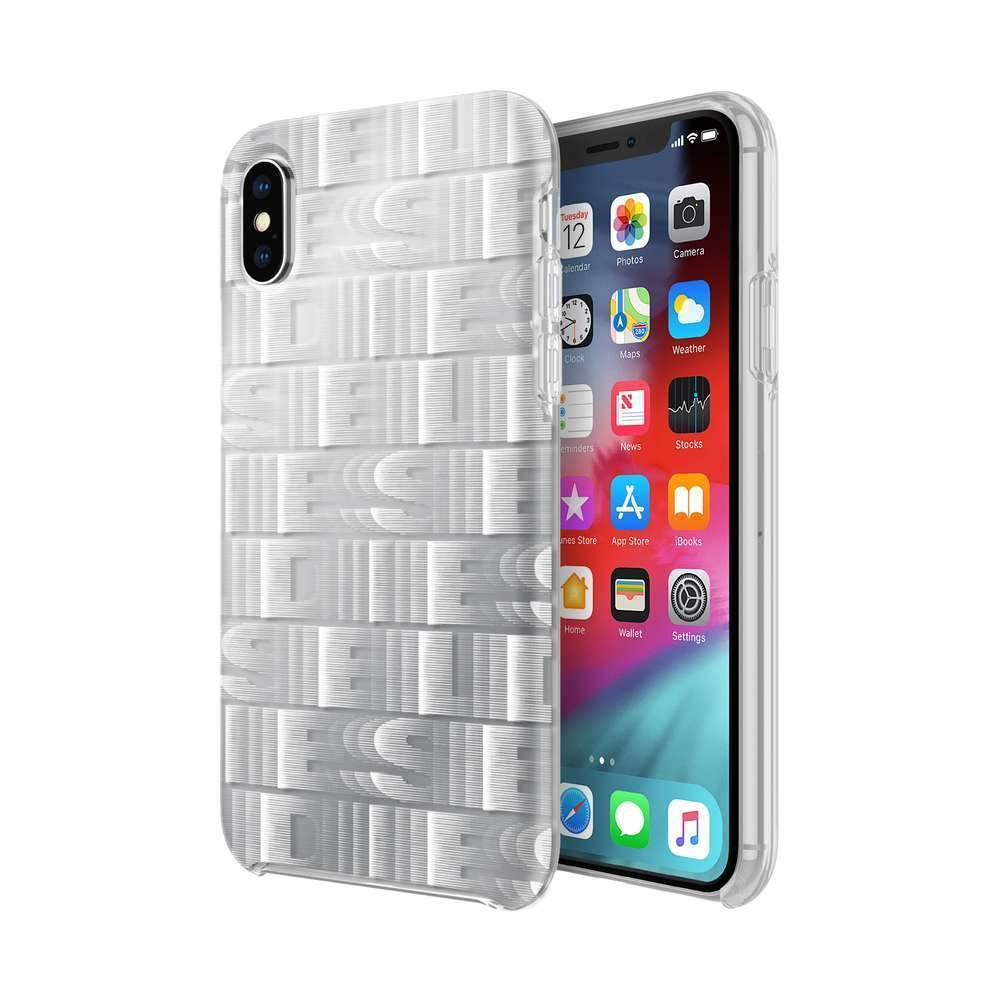DIESEL - Printed Co-Mold Repeating Logo Case for iPhone XS/X / ケース - FOX STORE