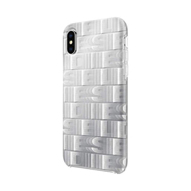 DIESEL - Printed Co-Mold Repeating Logo Case for iPhone XS/X