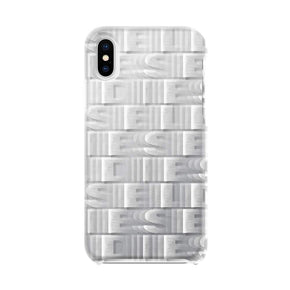 DIESEL - Printed Co-Mold Repeating Logo Case for iPhone XS/X - caseplay