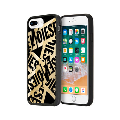 DIESEL - Printed Co-Mold Case For iPhone 8 Plus, iPhone 7 Plus, iPhone 6 Plus, and iPhone 6s Plus - Multi Tape Gold/Black