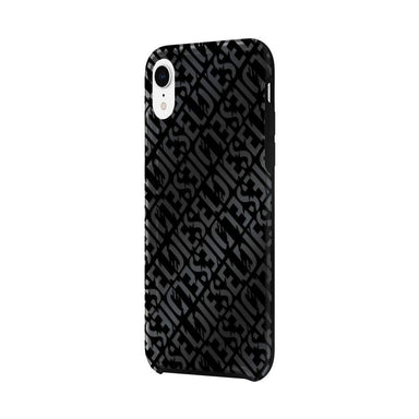 DIESEL - Printed Co-Mold Distressed Logo Pattern Case for iPhone XR