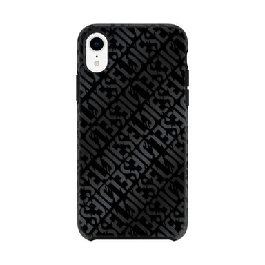 DIESEL - Printed Co-Mold Distressed Logo Pattern Case for iPhone XR / ケース - FOX STORE