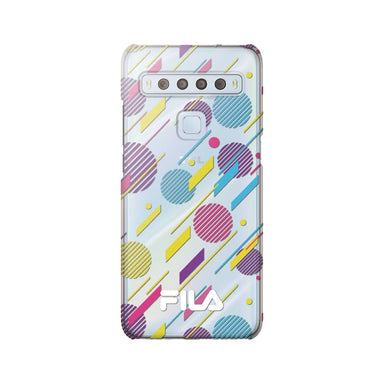 FILA - Clear Case Diagonal Geometry Circle for TCL 10 Lite