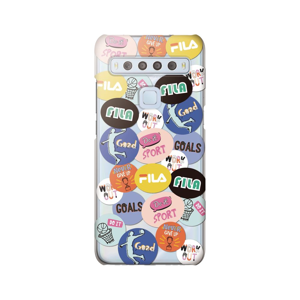 FILA - Clear Case Round Sticker Basketball for TCL 10 Lite - Mulit