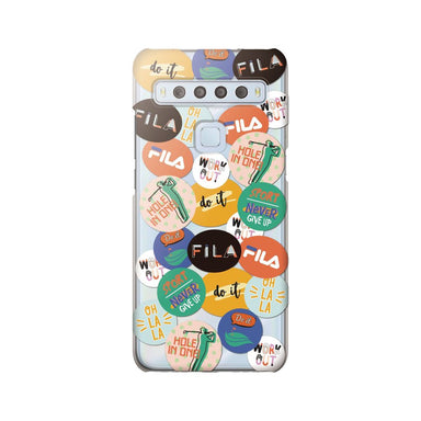 FILA - Clear Case Round Sticker Golf for TCL 10 Lite