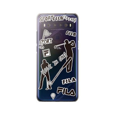 FILA - Clear Case Sticker Golf for TCL 10 Lite - Monotone