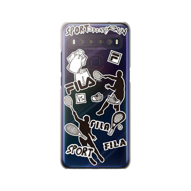 FILA - Clear Case Sticker Tennis for TCL 10 Lite - Monotone