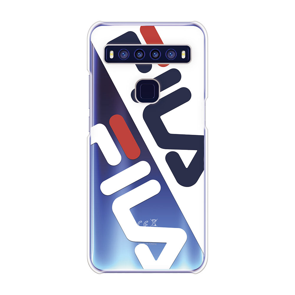 FILA - CLEAR CASE DIAGONAL for TCL 10 5G - Bright White