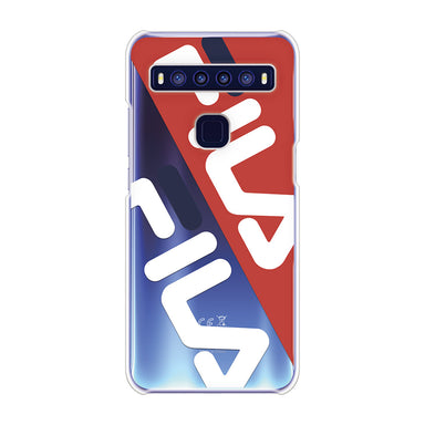 FILA - CLEAR CASE DIAGONAL for TCL 10 5G - Red