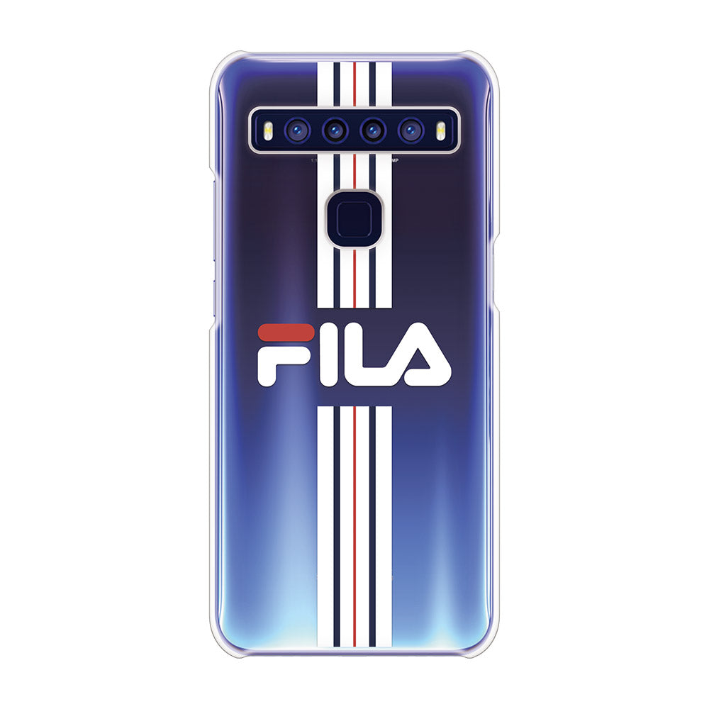 FILA - CLEAR CASE STRIPE for TCL 10 5G - Bright White