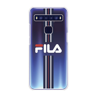 FILA - CLEAR CASE STRIPE for TCL 10 5G - Dark Navy