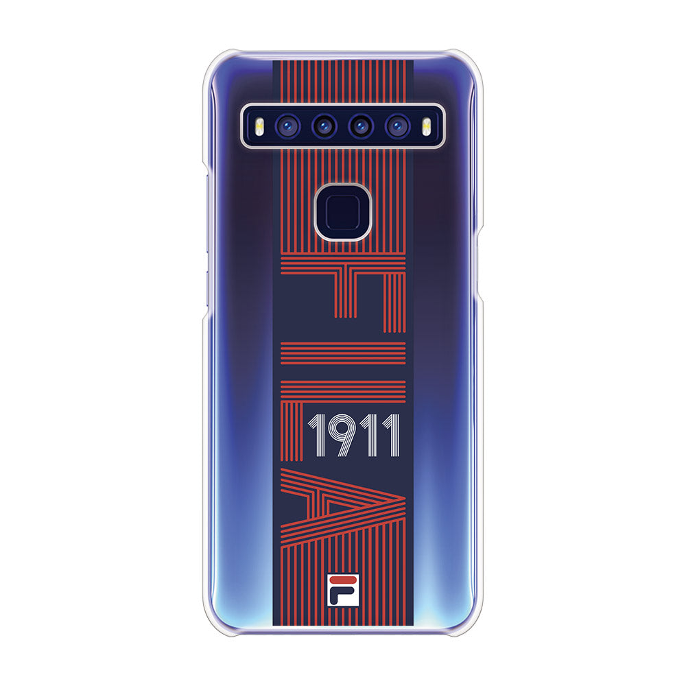 FILA - CLEAR CASE VINTAGE for TCL 10 5G - Red