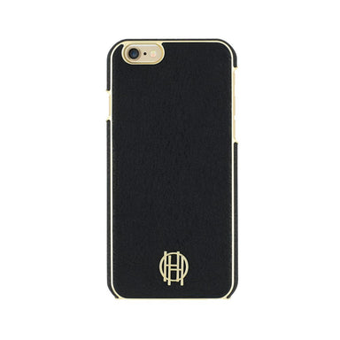 House of Harlow - SNAP Case for iPhone 6s/6 - Black Leather/Gold Metallic
