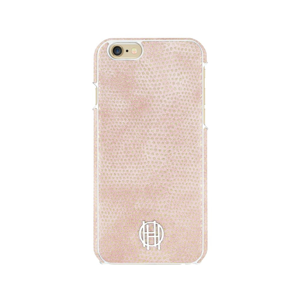 House of Harlow - SNAP Case for iPhone 6s/6 - Pink Kraits/Silver Metallic