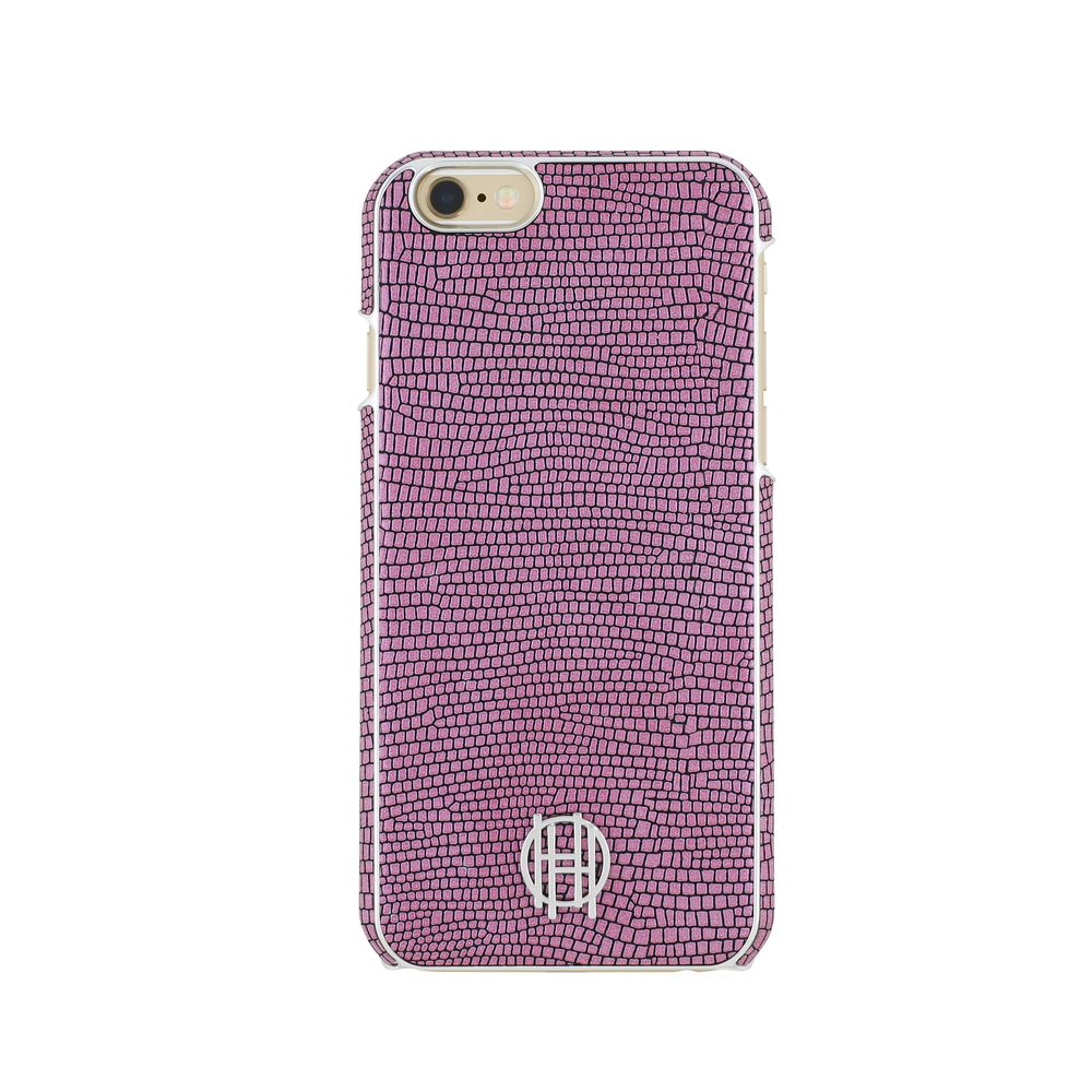 House of Harlow - SNAP Case for iPhone 6s/6 - Pink Lizard/Silver Metallic