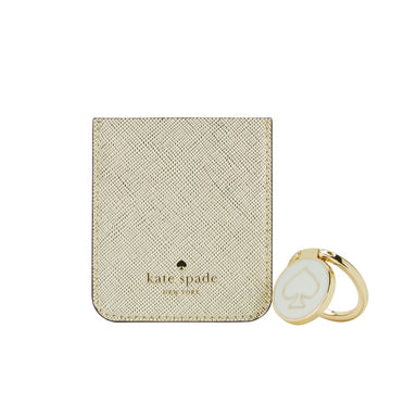 kate spade new york - Gift Set: Sticker Pocket (Gold) & Stability Ring (Cream/Gold)