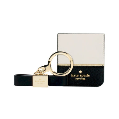 kate spade new york - Gift Set: Stability Ring (Gold/Black Enamel) & Sticker Pocket (Color-Block Cement/Black/Gold Flange)