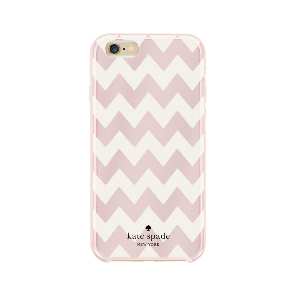 kate spade new york - Hybrid Hardshell Case for iPhone 6/6s - Chevron Blush Foil/Cream