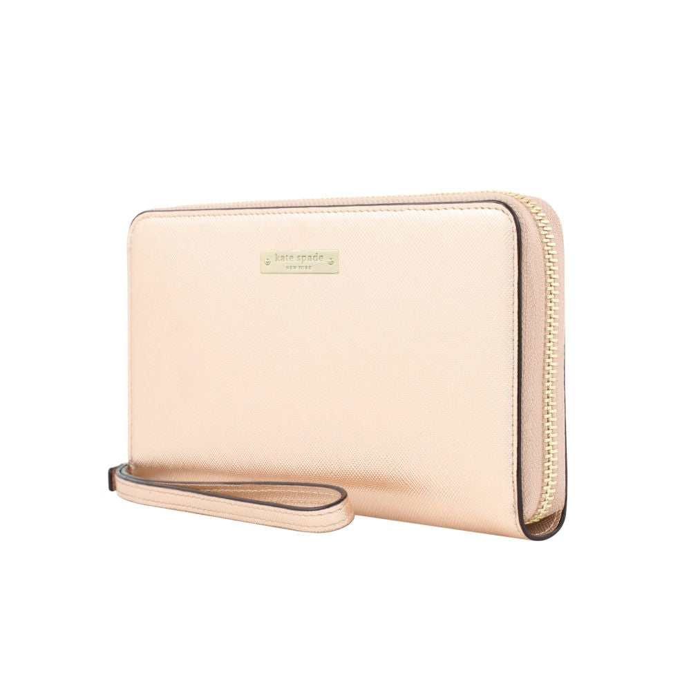 kate spade new york - Zip Wristlet (Fits Most Mobile Phones) - Rose Gold