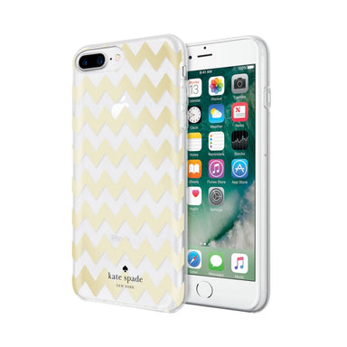 kate spade new york - Protective Hardshell Case iPhone 8/7 Plus - Chevron Gold Foil