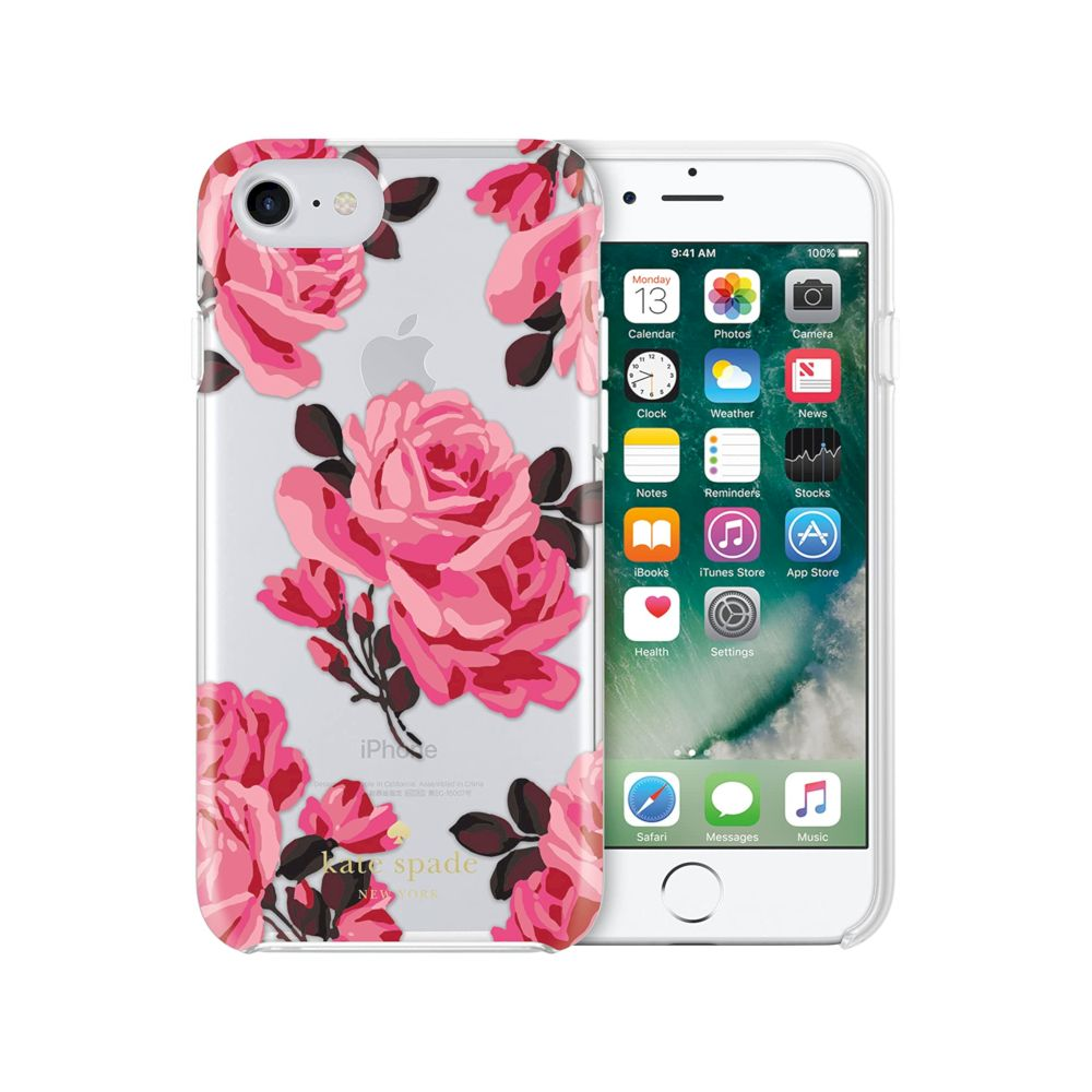 kate spade new york - Protective Hardshell Case (1-PC Comold) for iPhone SE 第2世代/8/7/6s/6 - Selavi Rose Clear/Multi