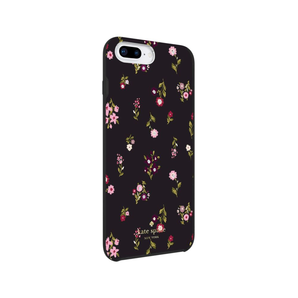 kate spade new york - Protective Hardshell Case (1-PC Co-Mold) for iPhone 8/7/6s/6 Plus - Spriggy Floral Multi/Black/Gems