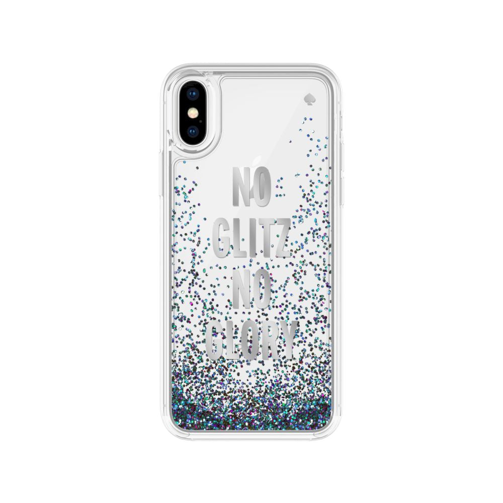 kate spade new york - Liquid Glitter Case For iPhone XS/X
