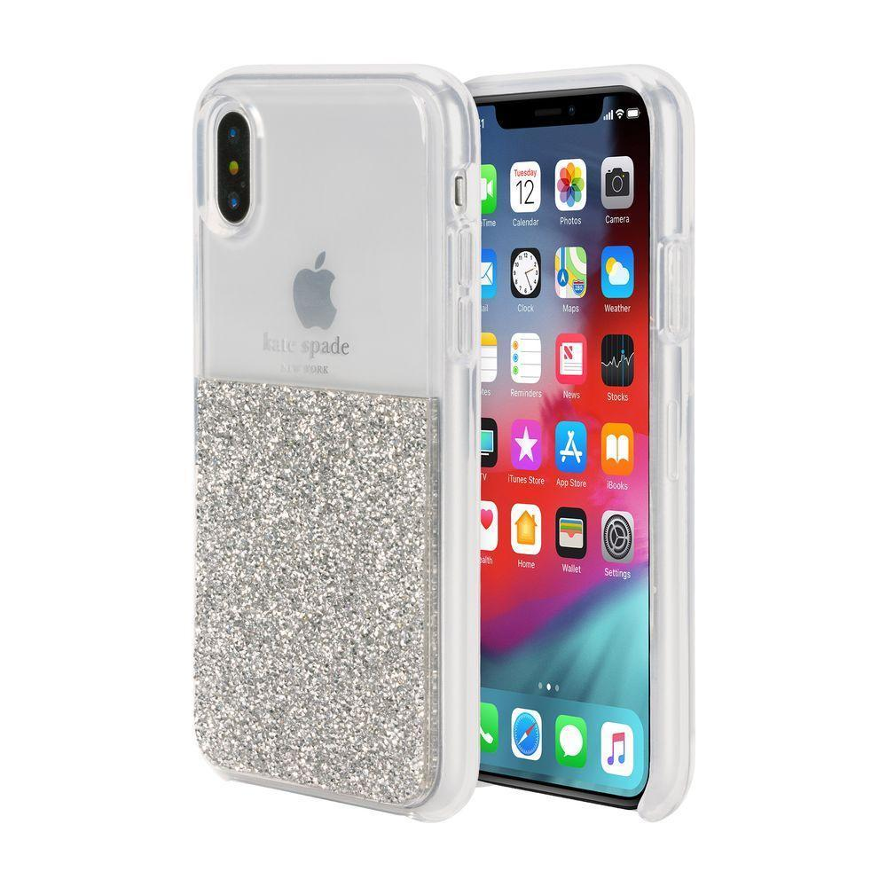 kate spade new york - Half Clear Crystal Case for iPhone XS/X / ケース - FOX STORE