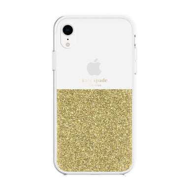 kate spade new york - Half Clear Crystal Case for iPhone XR - caseplay
