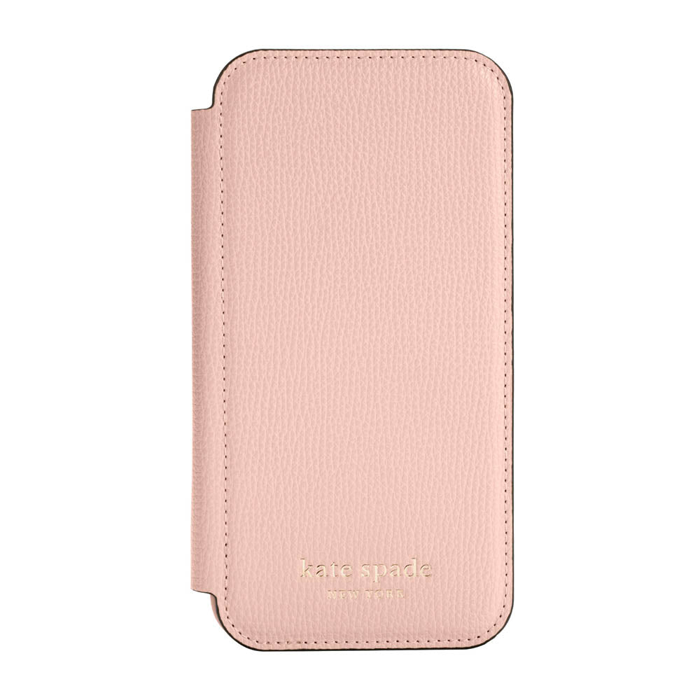 kate spade new york - Folio Case for  iPhone 12/12 Pro - Pale Vellum Crumbs/Pale Vellum PC/Gold Sticker Logo