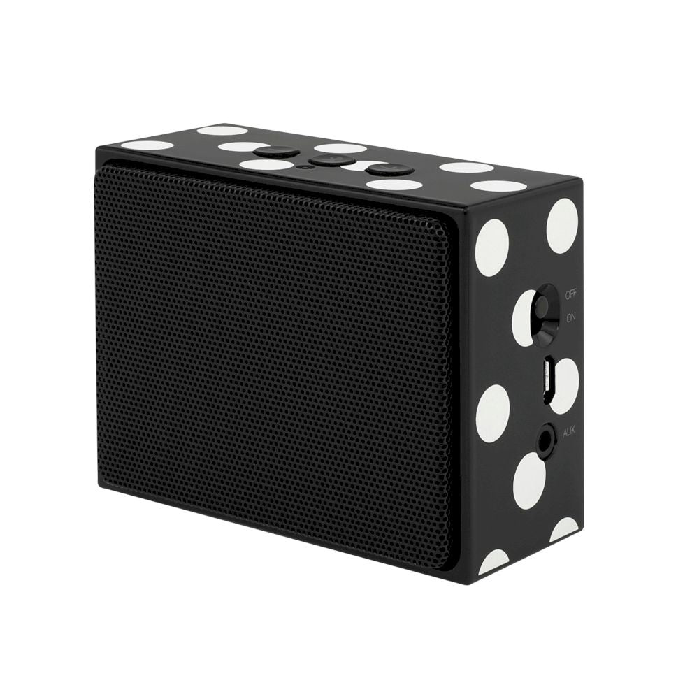 kate spade new york - Portable Wireless Speaker - Black/Cream Dots