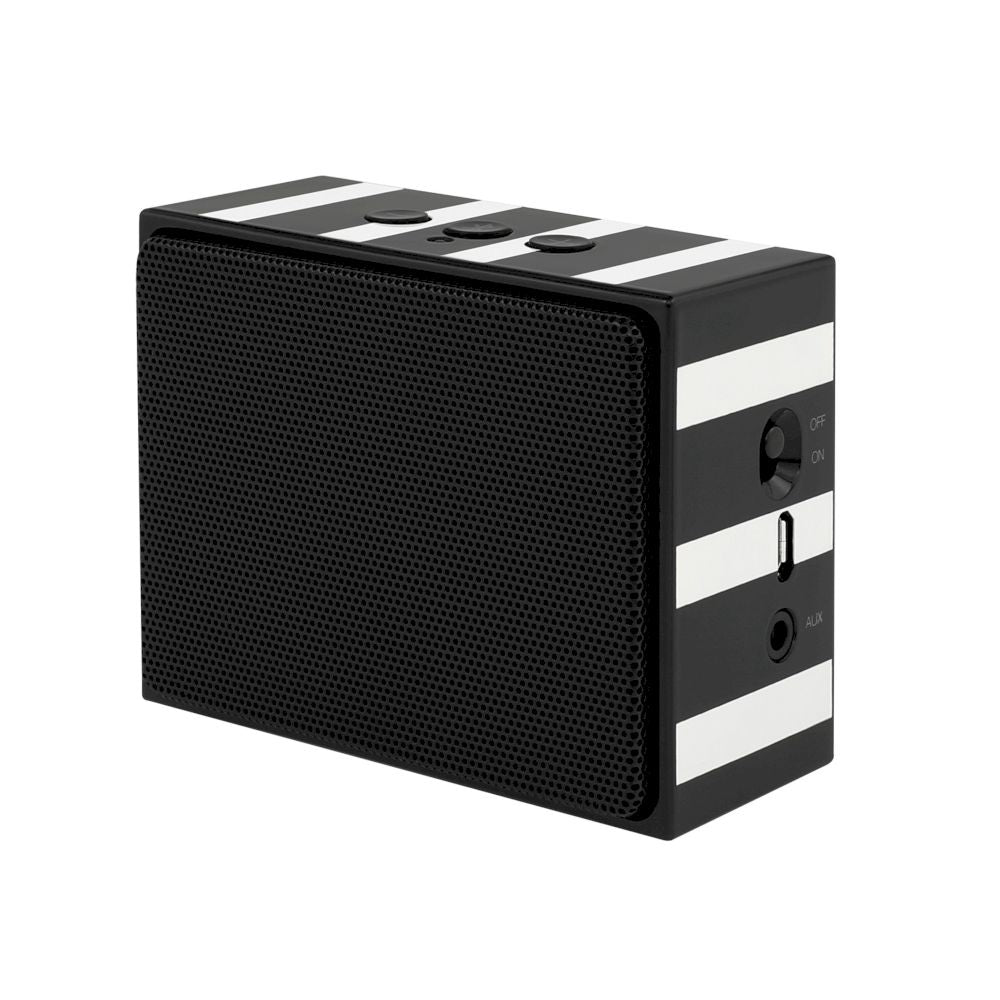 kate spade new york - Portable Wireless Speaker - Black/Cream Stripe