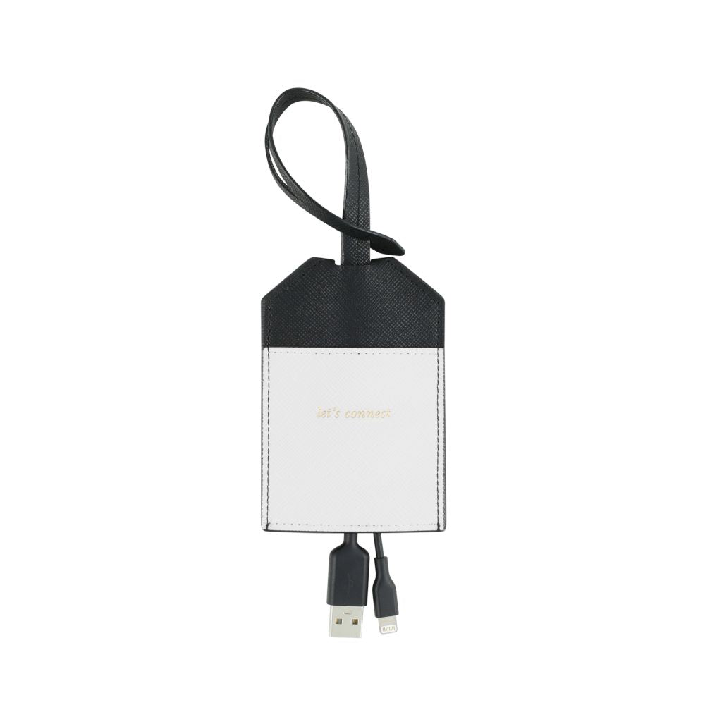 kate spade new york - Portable Lightning Cable - Black/Cream