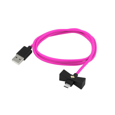 kate spade new york - Bow Charge/Sync Cable - Micro-USB - Black Bow/Vivid Snapdragon Cable