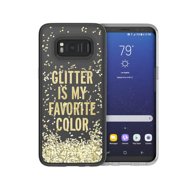 kate spade new york - Liquid Glitter Case For Samsung S8 - Glitter is My Favorite Color/Chunky Gold Glitter/Clear