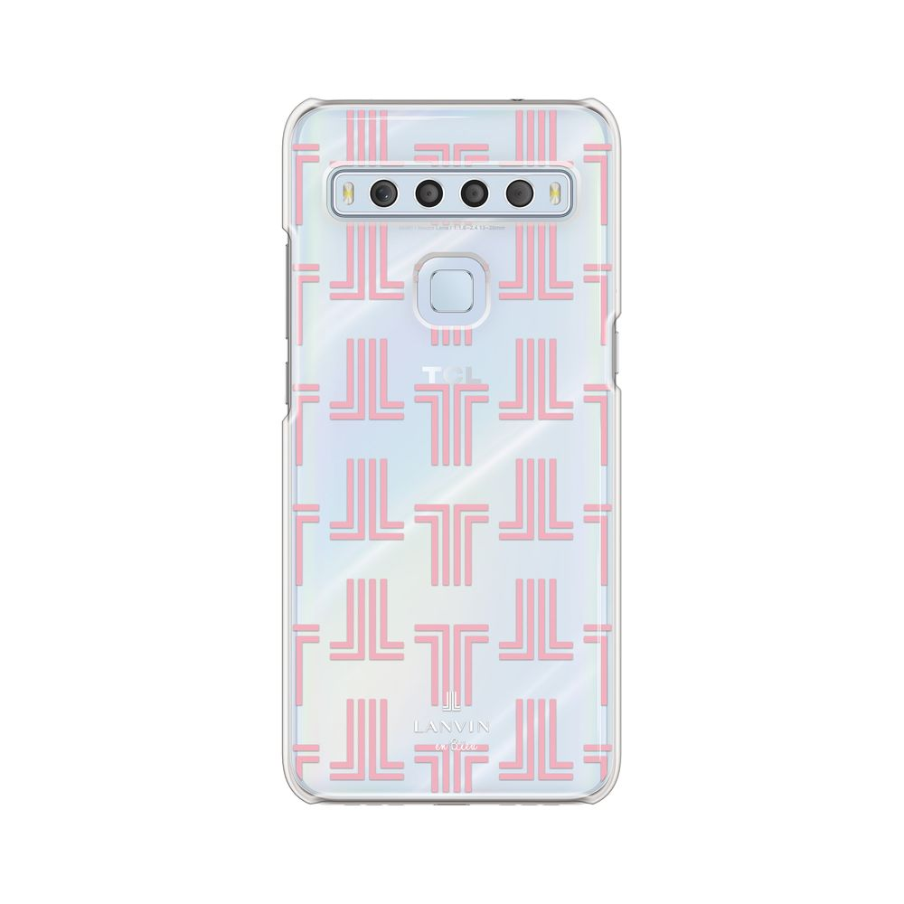 LANVIN en Bleu - Clear Case Monogram for TCL 10 Lite - Coral Pink