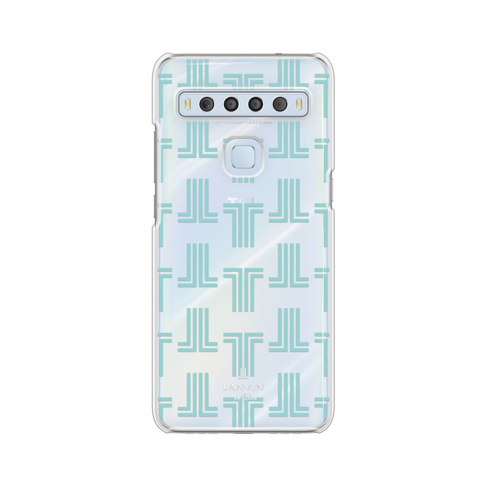 LANVIN en Bleu - Clear Case Monogram for TCL 10 Lite - Mint Green