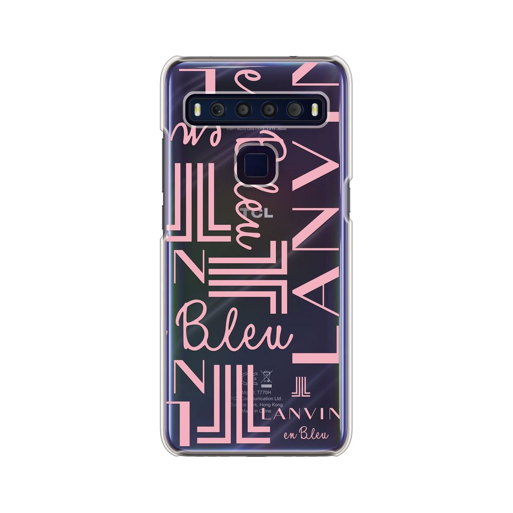 LANVIN en Bleu - Clear Case Signature for TCL 10 Lite - Coral Pink
