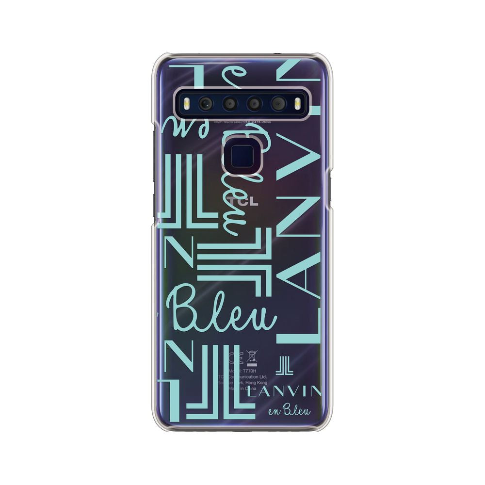 LANVIN en Bleu - Clear Case Signature for TCL 10 Lite - Mint Green