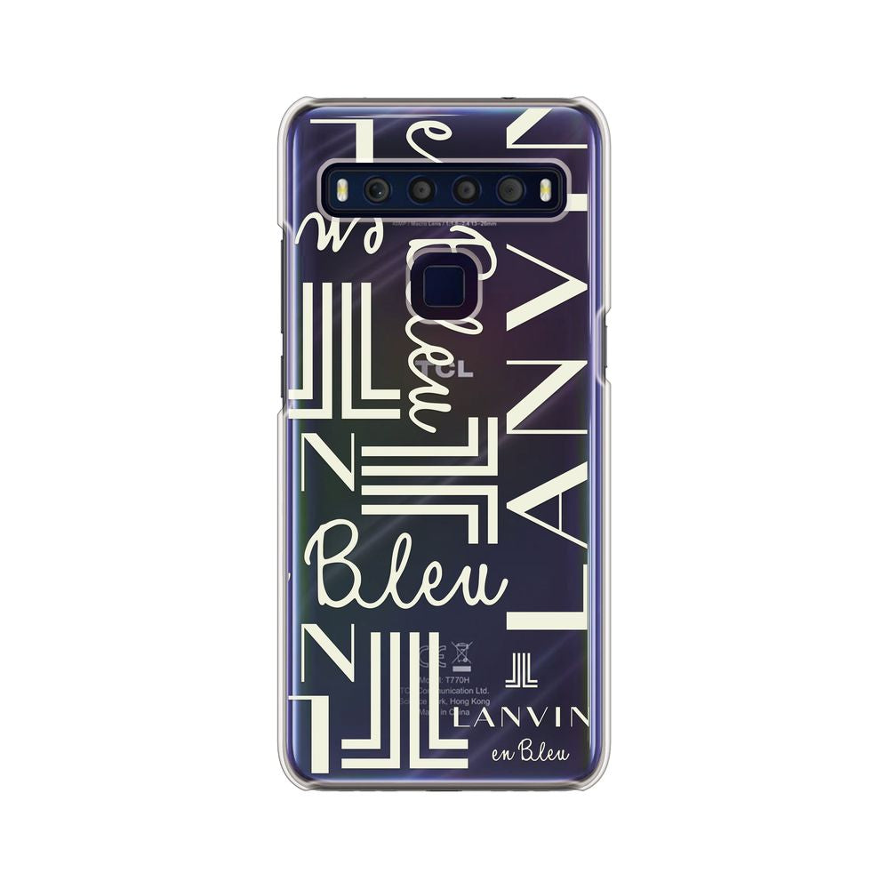 LANVIN en Bleu - Clear Case Signature for TCL 10 Lite - 4580678549712