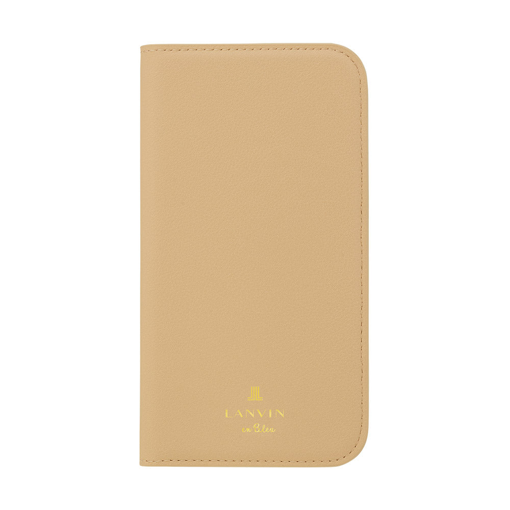 LANVIN en Bleu - FOLIO CASE CLASSIC for iPhone 12 mini - Beige