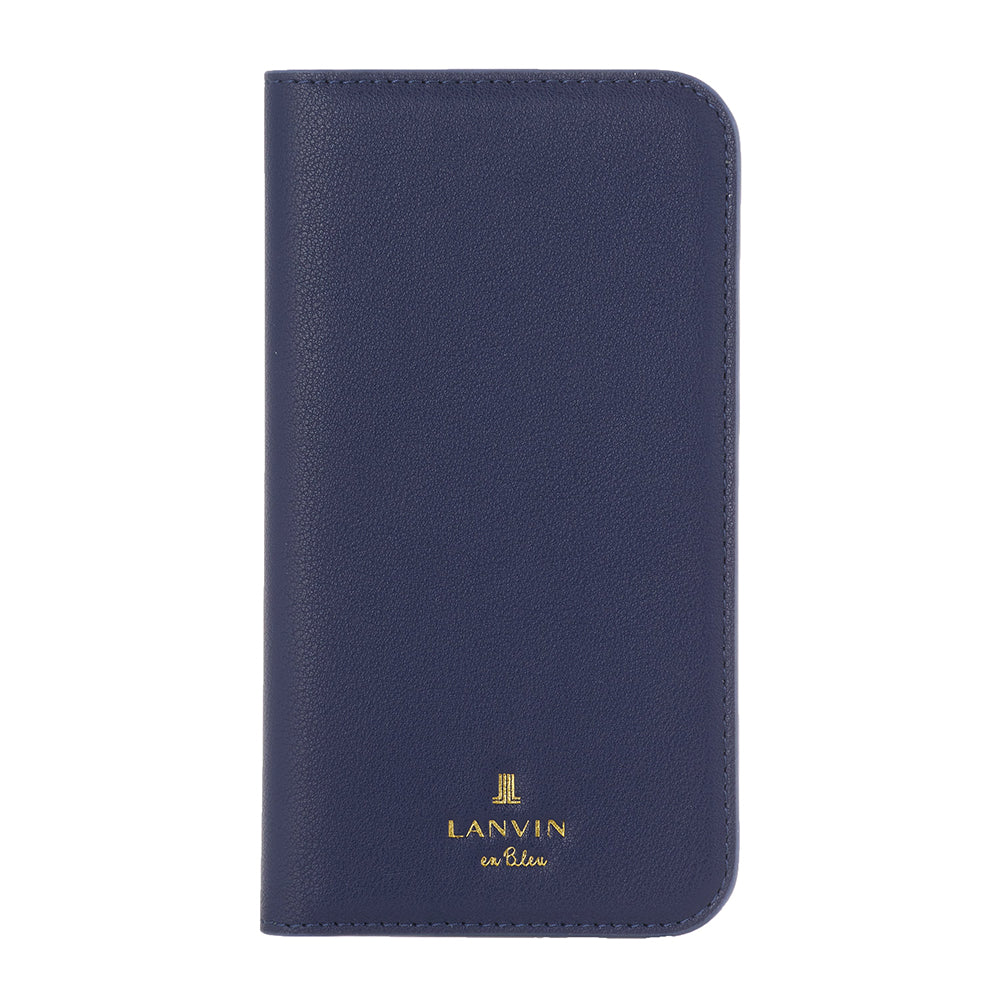 LANVIN en Bleu - FOLIO CASE CLASSIC for iPhone 12 mini - Dark Navy