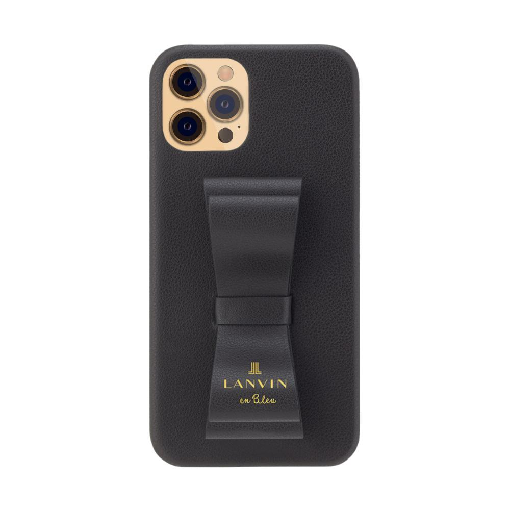 LANVIN en Bleu - Slim Wrap Case Stand & Ring Ribbon for iPhone 12 Pro Max - Black
